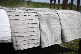 big linen bed throw 3 styles organic pleated linen blanket