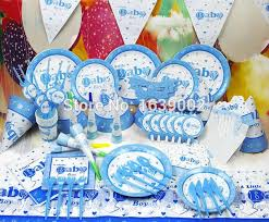 baby boy birthday themes 78 pcs free shipping for 6 peoples blue baby boy birthday theme