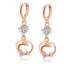 simple earrings design 2018 top quality fashion simple design 18k yellow gold plated