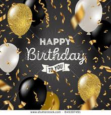 Happy Birthday Happy Birthday Vector Illustration Golden Foil Stock Vector