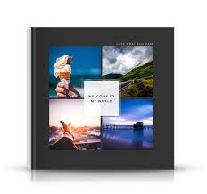 10x10 photo book 10x10 cover lay flat grey photo book with four photos