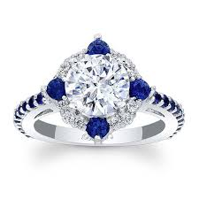 sapphire halo engagement rings barkev s blue sapphire halo engagement ring 7967lbs