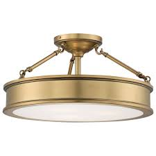 Antique Brass Bathroom Light Fixtures by Flush And Semi Flush Ceiling Lighting At Bellacor