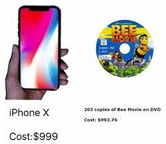 Bee Movie Meme - dopl3r com memes 203 copies of bee movie on dvd iphonex cost