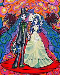 grateful dead wedding ideas psychedelic day of the dead wedding