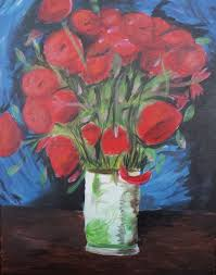 Vase With Red Poppies Megan Knight Social Drinking U0026 Painting In Oklahoma City Wine
