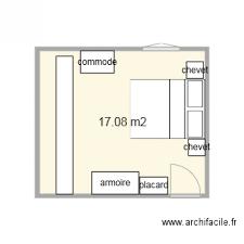 plan chambre plan chambre plan 1 pièce 17 m2 dessiné par les alezans