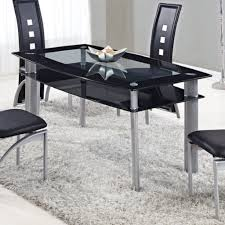 Global Furniture Dining Room Sets Dining Table Black Glass Kentucky Black Glass Dining Table