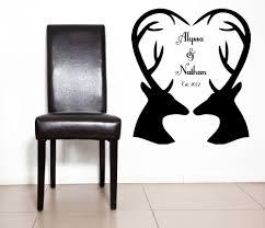 heart romantic est art established deer antlers custom zoom
