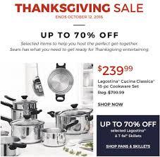sears canada thanksgiving sale save 70 select lagostina