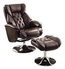 Swivel Reclining Armchair Amazon Com Homelegance 8548brw 1 Swivel Reclining Chair With