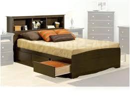 bookcase queen platform storage bed bookcase headboard prepac