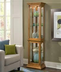 lighted curio cabinet oak solid oak lighted curio cabinet high end used furniture drew