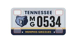 memphis grizzlies offering team license plates memphis business
