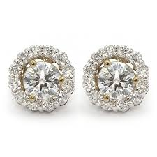 earring jacket diamond stud earring jackets halo wixon jewelers