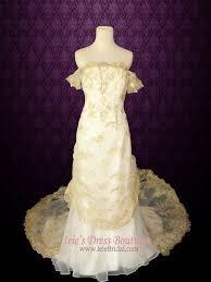 wedding dress overlay 3 retro gold lace overlay wedding dress
