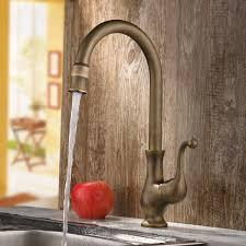 Traditional Kitchen Mixer Taps - lelan antique brass traditional kitchen mixer tap