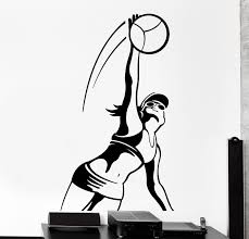 compare prices on sport stickers wall online shopping buy low 2016 home wall sticker sport volleyball sexy girl female woman vinyl decal free shipping china