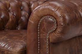Vintage Brown Leather Chair The Kensington Chesterfield Tufted Chair Rose And Moore