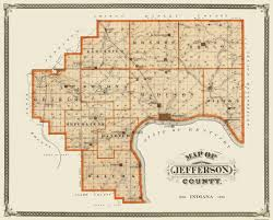 Shelby County Zip Code Map by Old County Map Jefferson Indiana Landowner 1876