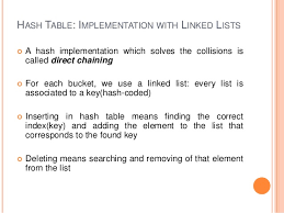 Hash Table Implementation Data Structures And Algorithms Lab11
