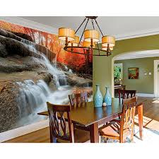 distressed brick wall mural wr50508 the home depot autumn waterfall wall mural