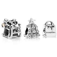 pandora shining sleigh to the tree charm set pcb0585 cheap price uk