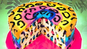 rainbow leopard cake from cookies cupcakes and cardio youtube