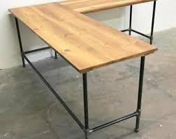 Real Wood Corner Desk Corner Desk Etsy