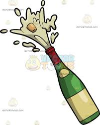 champagne clipart a popping champagne bottle cartoon clipart vector toons