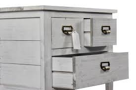 console 3 tiroirs meuble console bois 3 tiroirs ceruse blanc 60x35 5x76cm