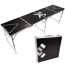 fold up beer pong table can t stop party supplies portable tailgating beer pong table easily