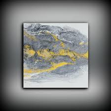 art painting acrylic paintings abstract small wall art canvas gold
