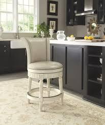 Ashley Swivel Chair by Ashley D562 224 Crenlam Antique White Tone Upholstered Swivel Barstool