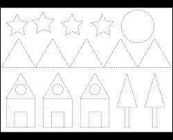7 best images of printable shape tracing worksheets preschool