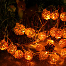 outdoor christmas light balls connectable 5m 20leds rattan ball led string lights fairy christmas