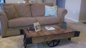 ana white factory carts to coffee tables diy projects