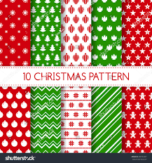 christmas pattern red green set seamless christmas patterns holiday backgrounds stock vector