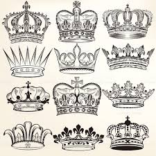 vector set of crowns for your heraldic design tattoo tatoo and