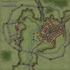 Paper Town Map Fantasy Cities Fantasy City Rpg And Fantasy Map
