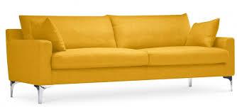 canapé 4 places design canapé design 4 places tissu jaune splenda lestendances fr