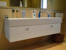 trough sink bathroom vanity