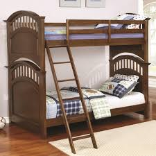 Bunk Beds Birmingham Coaster Halsted Casual Wooden Bunk Bed With Walnut