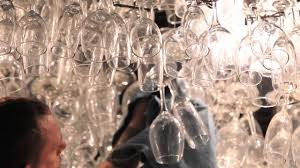 Chandelier Wine Glass Wine Glass Chandelier Sparkles Once Again Youtube