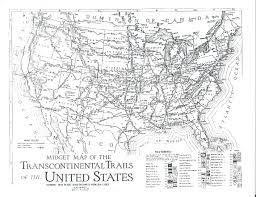 Map Of Usa With Highways by Map Of The Transcontinental Trails Of The Usa 1923 General