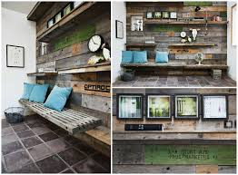 wall decoration made from pallet sides u2022 1001 pallets