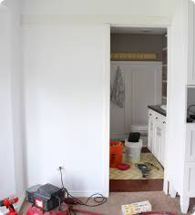 Sliding Bathroom Door by Our Master Bathroom Sliding Door U0026 Basin Custom Hardware