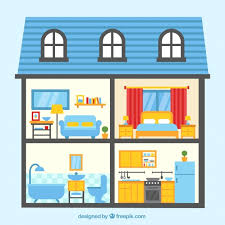rooms in the house colorful house with four rooms vector free download