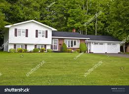 Split Level Home North America Seventies Era Wooden Split Stock Photo 104946539