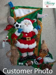sports santa claus bucilla kit